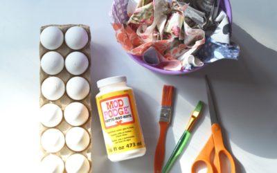 DIY Fabric Scrap Easter Eggs + FREE Fabric and Tutorial