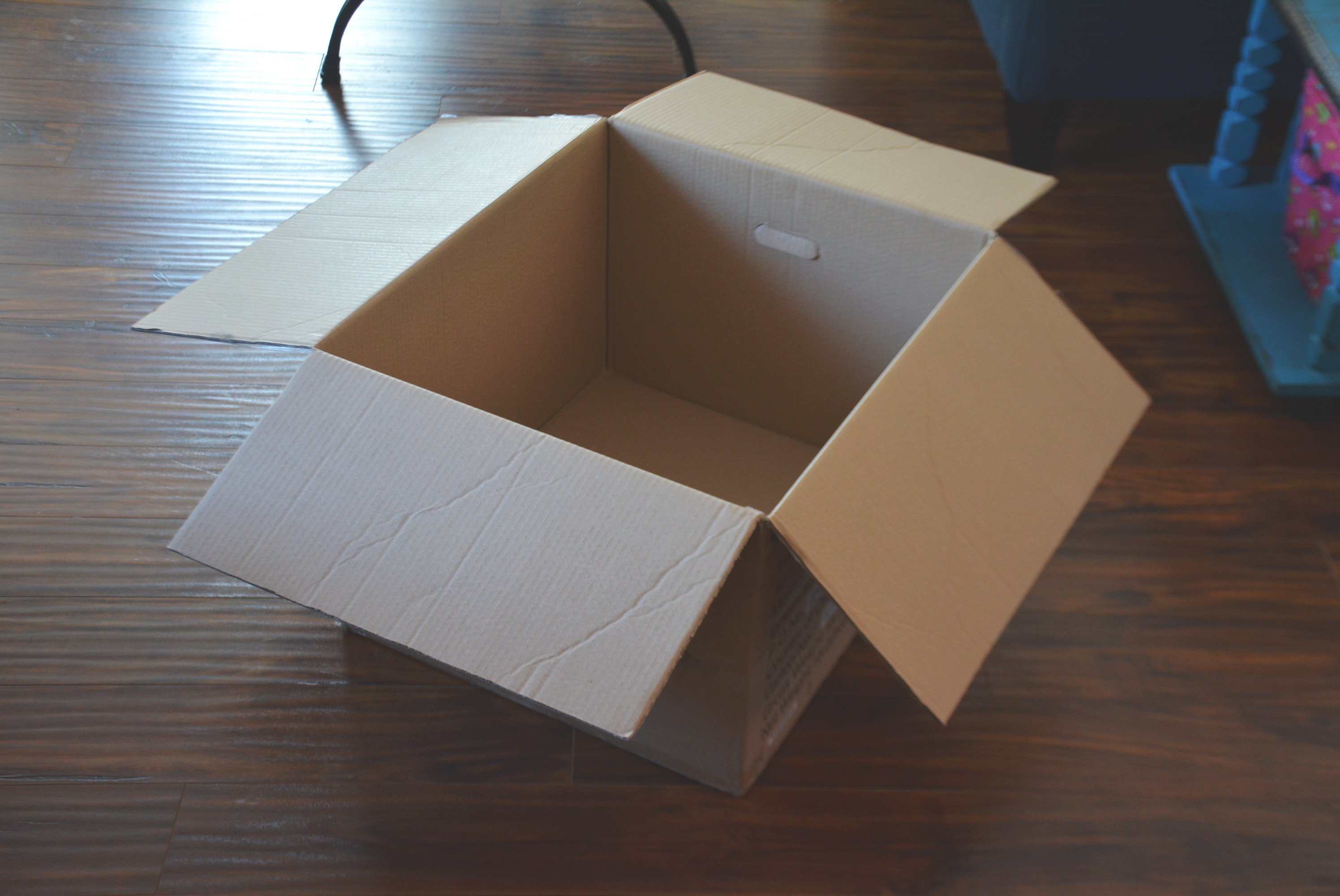 Cardboard Box for Lemonade Stand - DIY Lemonade Stand