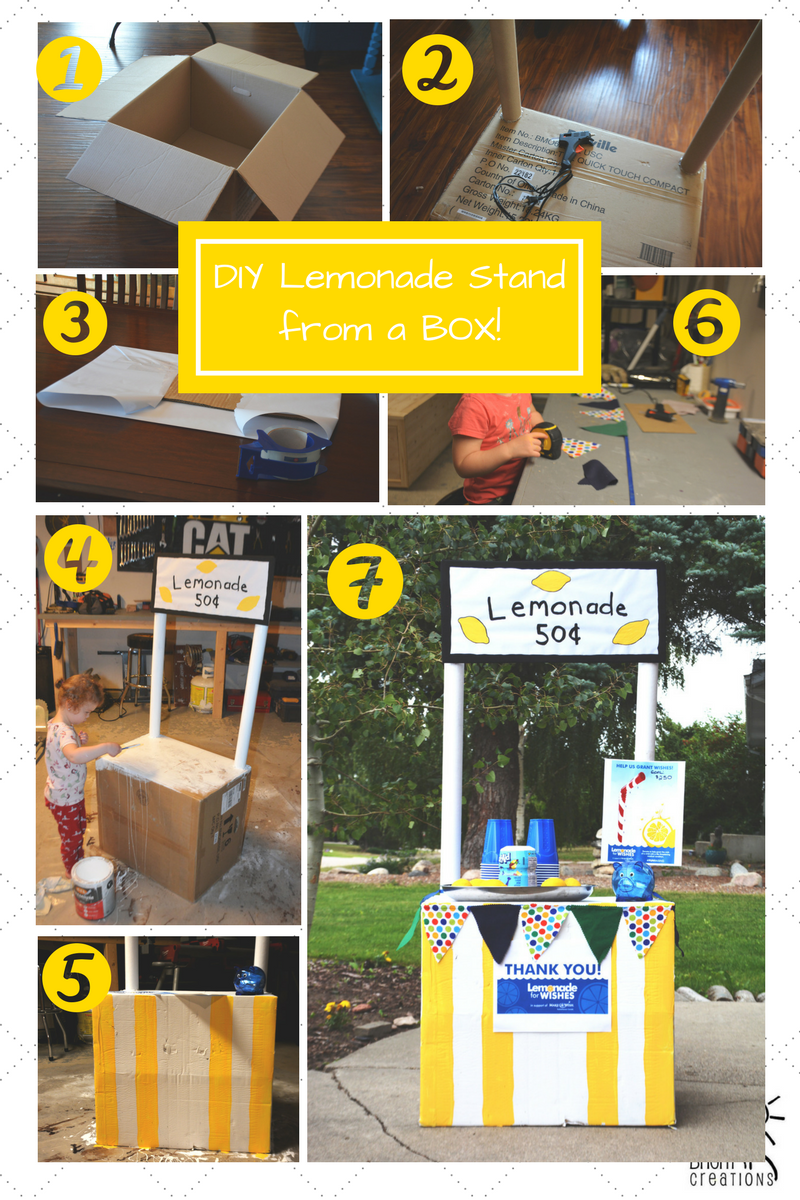 How to Make a Lemonade Stand from a Cardboard Box - DIY Lemonade Stand