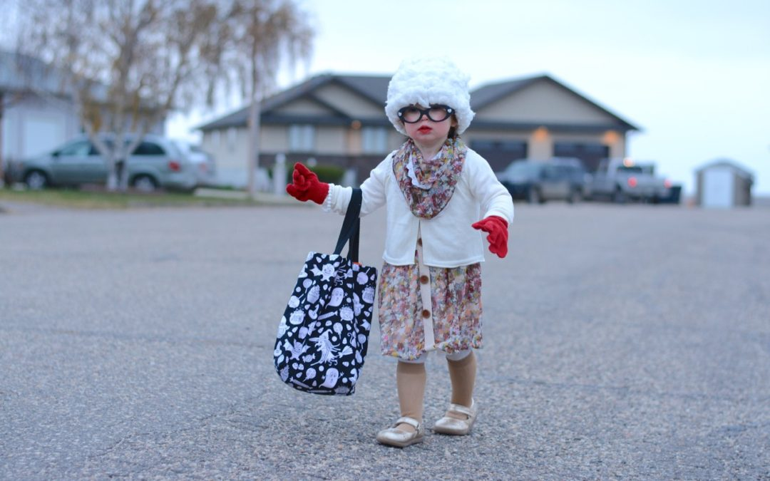 Handmade Old Lady & Cupcake Halloween Costumes