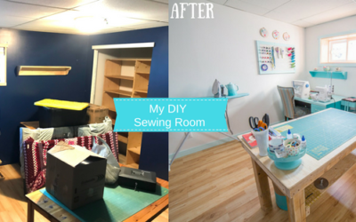 My DIY Sewing Room Makeover