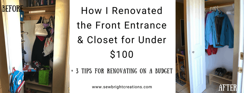 How I Renovated the Front Entrance + Closet for Under $100!