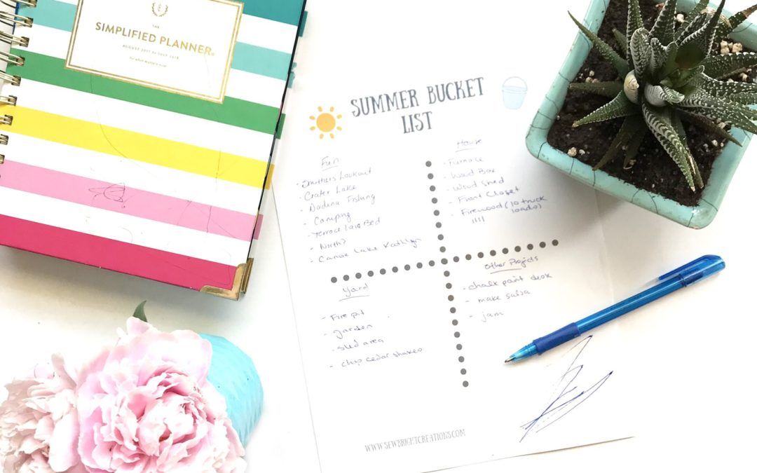 Have You Made a Summer Bucket List? + FREE Printable