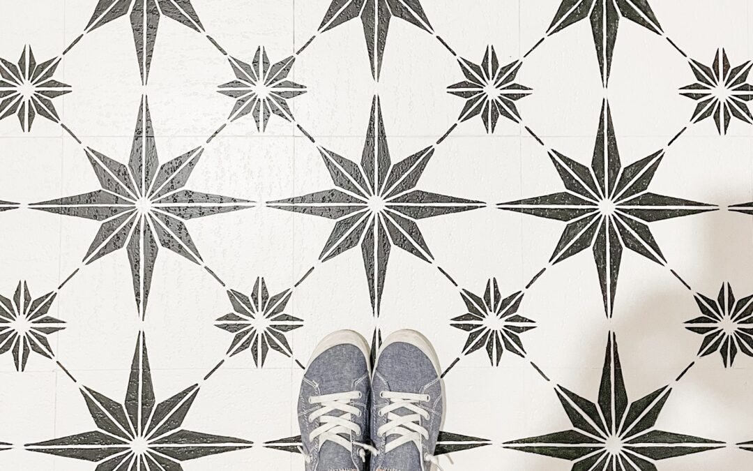 How to Stencil a Floor + GIVEAWAY